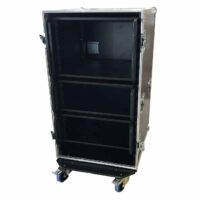 aw racq easy slide 100cm flightcase front open