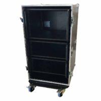 aw racq easy slide 100cm flightcase front open