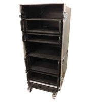 aw racq easy slide 120cm flightcase front open