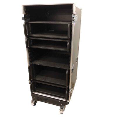 aw racq easy slide 120cm flightcase front open