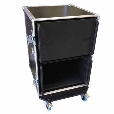 aw racq easy slide 80cm flightcase front open