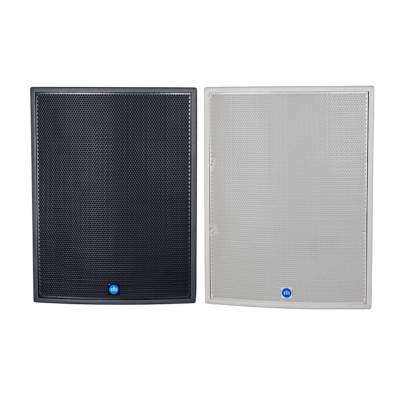 renkus-heinz tx118s and ta118sa speaker black and white front view