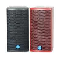 renkus-heinz tx61and ta61a speaker black and red front view