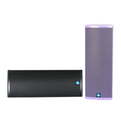renkus-heinz tx82 and ta82a speaker black and purple front view