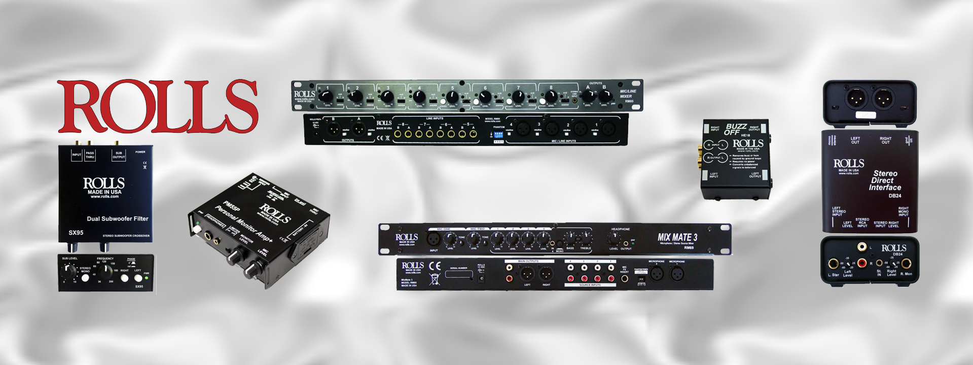 Rolls Corporation Mixers Amplifiers Signal Processors