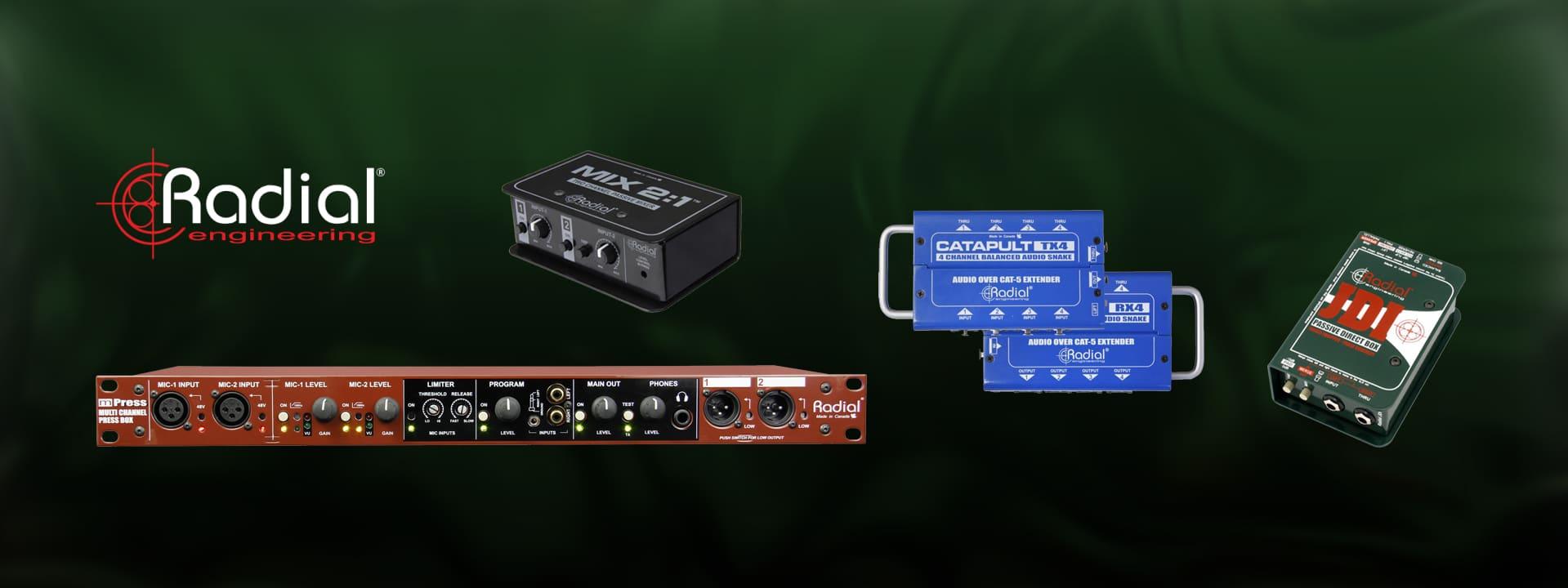 Radial Engineering live and studio tools