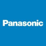 Panasonic logo on blue background