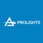Prolights logo blue background